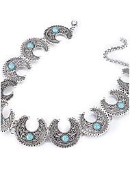 abordables -Mujer Forma Geométrica Irregular Forma Gargantillas Collares con colgantes Obsidiana Chapado en Oro Legierung Gargantillas Collares con