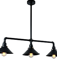 Vintage Industrial Pipe Pendant Lights Metal Shade Restaurant With 3 Head Painted Finish