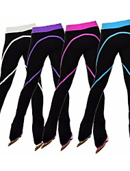 Figure Skating Footed Tights Women's Girls' Ice Skating Pants / Trousers Tracksuit Fuchsia Red Green Blue Pink Stretchy Performance
