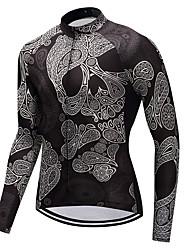 economico -FUALRNY® Maglia da ciclismo Per uomo Manica lunga Bicicletta Maglietta/Maglia Inverno Abbigliamento ciclismo Elevata elasticità Ciclismo