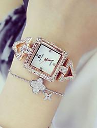 abordables -Mujer Cuarzo Reloj de Pulsera Reloj de Moda Japonés Gran venta Acero Inoxidable Banda Encanto Plata Dorado