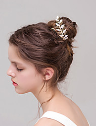 slitina vlasy hřebeny květiny headpiece elegantní klasický ženský styl