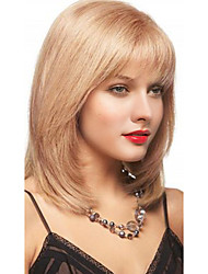 cheap -Human Hair Hot Sale Medium Machine Made Wig Women's