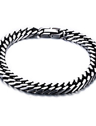 cheap -Men's Stainless Steel Others Chain Bracelet Bracelet - Simple Vintage Basic Silver Bracelet For Daily Casual