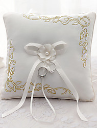 cheap -Ribbon Bowknot Flower(s) Satin Silk Ring Pillows Wedding Ceremony