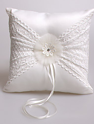 cheap -Laces Ribbon Rhinestone Satin Silk Ring Pillows Wedding Ceremony