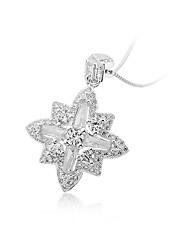 cheap -Women's Snowflake Sexy Friendship Pendant Necklace AAA Cubic Zirconia Sterling Silver Zircon Pendant Necklace , Birthday Engagement