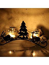 bougeoirs 23 * 6.5 * 10.5 bougeoirs en fer candélabre noir
