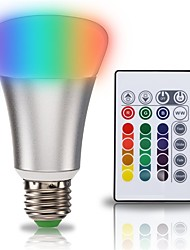 10W RGBWW Dimmable Color Changing E27/E26 LED Light Bulbs Multi-color Wireless Remote Control Daylight 3000K