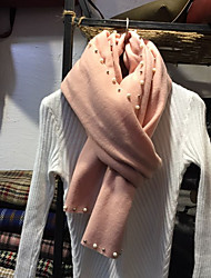 Women's Imitation Cashmere Rectangle Solid Spring/Fall Winter