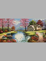 Ručně malované Lidé Horizontální,rustikální design Pastýřský Plátno Hang-malované olejomalba For Home dekorace