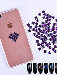 abordables -700 Brillante Cristal Arte Decorativa/Retro Joyería de uñas Suministros DIY 3D Glitters Cristal Lujo Geométrico Enjoyado Bonito Activo