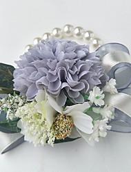 economico -Bouquet sposa Braccialetto floreale Matrimonio Poliestere 10 cm ca.