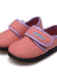 cheap -Girls' Shoes Wool Winter First Walkers Comfort Loafers & Slip-Ons Appliques Magic Tape for Casual Orange Beige