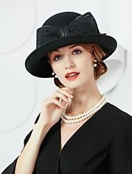 Недорогие -шерстяные льняные шляпы 1 головной убор свадебный вечер элегантный женственный стиль