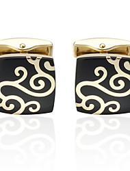 cheap -Golden Cufflinks Brass Costume Jewelry Wedding Anniversary Men's Costume Jewelry