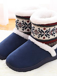 Women's Shoes Polyamide fabric Cotton Fall Winter Comfort Slippers & Flip-Flops For Casual Red Purple Dark Blue