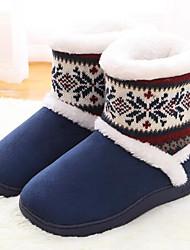 economico -Da donna Scarpe Tessuto di poliammide Cotone Autunno Inverno Comoda Pantofole e infradito Per Casual Blu scuro Viola Rosso