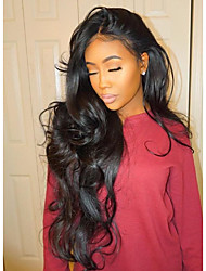 cheap -Human Hair Lace Front Wig Wig Brazilian Hair Wavy / Natural Wave With Baby Hair 130% Density Middle Part / Unprocessed Women's Short / Medium Length / Long Human Hair Lace Wig