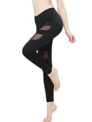 preiswerte -Yoga-Hose Leggins Yoga Mittlere Taillenlinie Dehnbar Sportbekleidung Damen Yoga Pilates Leger Mehrere Sportarten Laufen