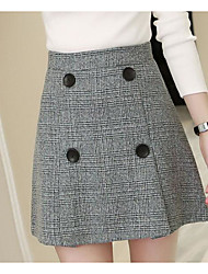 cheap -Women's Going out Mini Skirts A Line Striped Fall Winter
