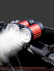 cheap -Bike Lights LED XM-L2 T6 Cycling Portable LED Light AAA Lumens 4 AA Batteries White Camping/Hiking/Caving Everyday Use Cycling/Bike