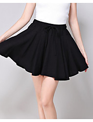 cheap -Women's New Year Above Knee Skirts Skirt & Dress Solid Summer