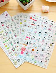 6 Pcs/Set Children Diary Sticker Phone Sticker Scrapbook Stickers