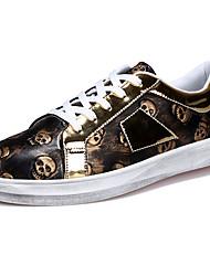 abordables -Homme Chaussures Polyuréthane Printemps / Automne Confort Basket Or / Noir / Bleu