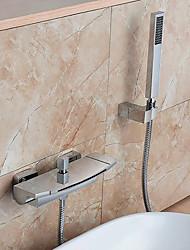 abordables -Robinet de baignoire - Moderne Chrome Montage mural Soupape céramique