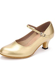 preiswerte -Damen Schuhe für modern Dance Kunstleder Sneaker Maßgefertigter Absatz Maßfertigung Tanzschuhe Gold
