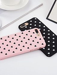 economico -Custodia Per Apple iPhone 6 iPhone 6 Plus iPhone 7 Plus iPhone 7 Resistente agli urti Integrale Con cuori Resistente PC per iPhone 7 Plus