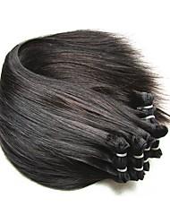 レミーヘアー ブラジリアンヘア 人間の髪編む ヘアエクステンション 8枚 ブラック