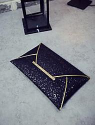 economico -Donna Sacchetti PU (Poliuretano) Pochette Con strass per Casual Tutte le stagioni Oro Nero Oro chiaro