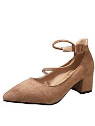 Feminino Sapatos Couro Ecológico Verão Conforto Chinelos e flip-flops Sandálias Caminhada Sem Salto Dedo Aberto Combinação Para Casual