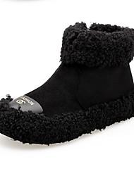 Недорогие -Жен. Обувь Кашемир Зима Зимние сапоги Ботинки Круглый носок Сапоги до середины икры для Повседневные Черный Коричневый