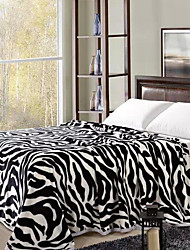 cheap -Super Soft, Printed Striped Polyester Blankets