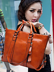 Women Bags Cotton Shoulder Bag Buttons for Casual All Season Orange Red Yellow Fuchsia Brown
