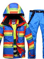 cheap -Men's Ski Jacket with Pants Warm Waterproof Windproof Wearable Breathability Ski / Snowboard Eco-friendly Polyester