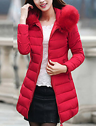 Hot! S-6XL Plus Size Women's Long Padded CoatVintage Simple Cute Plus Size Going out Casual/Daily Solid  Polyester Polypropylene CottonLong