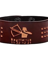 preiswerte -Herrn Armband Rock Modisch Leder Kreisform Schmuck Für Alltag Ausgehen