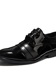 メンズ 靴 PUレザー 秋 フォーマルシューズ オックスフォードシューズ 用途 結婚式 パーティー ブラック