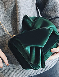 Women Bags PU Crossbody Bag Bow(s) for Casual All Season Black Red Dark Green Brown