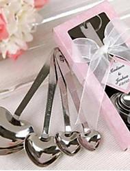 Casamento Noivado Aço Inoxidável Ferramentas de Cozinha Colher Férias Casamento-1 14*6.5*2.5