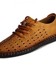 preiswerte -Herren Schuhe Künstliche Mikrofaser Polyurethan Sommer Komfort Sandalen für Normal Schwarz Gelb Khaki