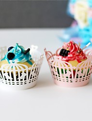 cheap -50pcs/lot Birdcage Design Laser Cut Cupcake Wrappers Cup Paper For Wedding Party Birthday Baby Shower Tea Party Decoration.