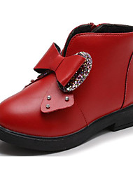 cheap -Girls' Shoes Leatherette Fall Winter Comfort Snow Boots Boots For Casual Wine Red Black