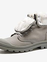 cheap -Men's Shoes Canvas Winter Combat Boots Boots Mid-Calf Boots For Casual Light Grey Light Yellow Black