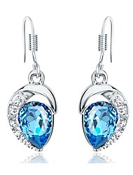 cheap -Women's Cubic Zirconia Geometric Stud Earrings / Drop Earrings - Zircon Light Blue For Daily