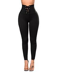 cheap -Women's Legging - Basic, Solid High Waist